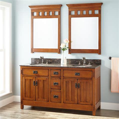double mirror bathroom cabinet 60 quot american craftsman double vanity for undermount sinks