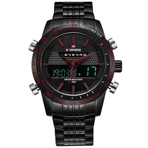 Jam Tangan Naviforce 9024 Black Original navi jam tangan analog digital pria 9024 black jakartanotebook