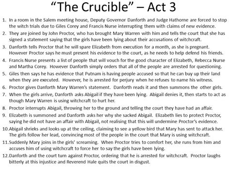 themes of act 3 of the crucible the crucible summary of events ppt video online download