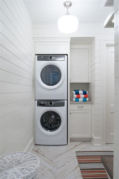 Pool House Bathroom with Washer and Dryer   Cottage   Bathroom