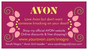 free printable avon business cards free business cards for your avon business avonsalesleader