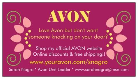 free avon business cards templates free business cards for your avon business avonsalesleader