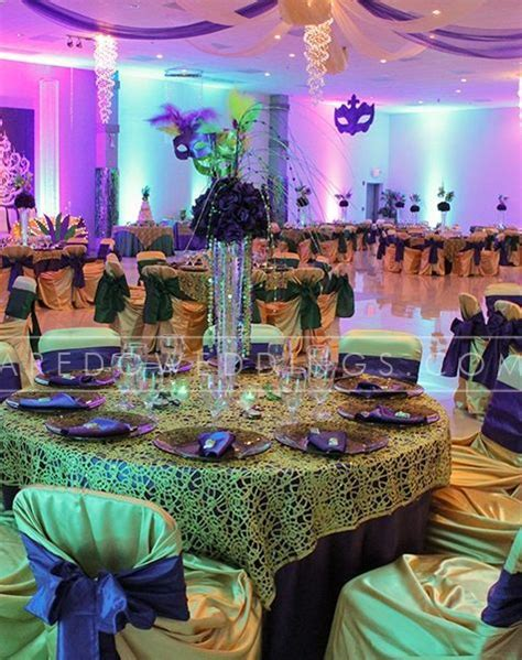 mardi gras wedding reception ideas 1920 s wedding themed reception tablescapes mirage