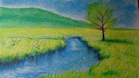 imagenes de paisajes que se puedan dibujar c 243 mo dibujar un paisaje al pastel paso a paso dibujo de