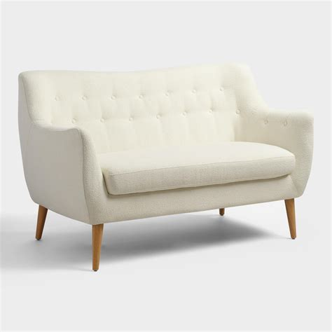 loveseat or love seat off white tamera love seat world market