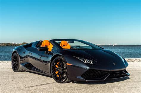 Black Lamborghini Convertible Lamborghini Huracan Spyder Black Miami Exotics