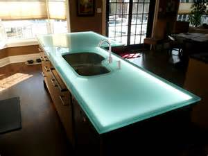 Kitchen Countertop Lighting Glass Countertop Island With Led Lighting Designed By Cgd Glass Countertops