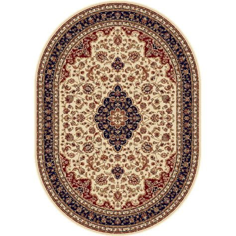 area rugs oval tayse rugs sensation beige 5 ft 3 in x 7 ft 3 in oval traditional area rug 4782 ivory 5x8