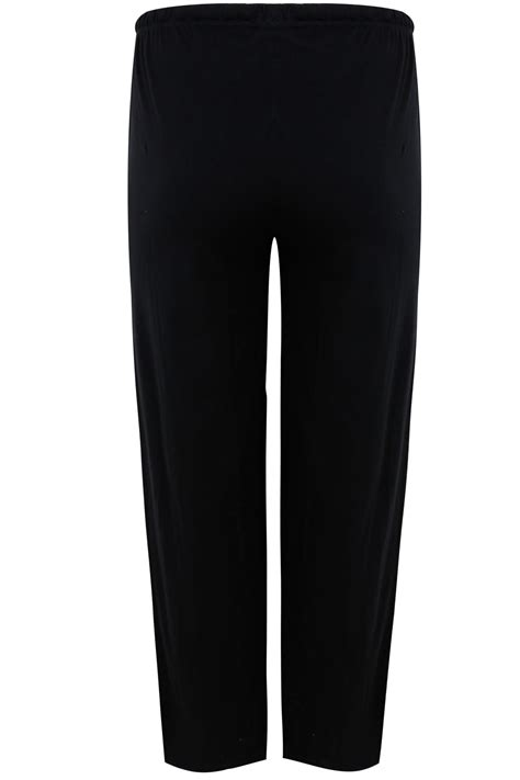 Basic Cotton black basic cotton pyjama trousers plus size 16 to 32