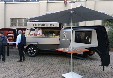 food truck design tool peugeot food truck puts the restaurant on wheels for world