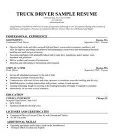 delivery driver resume exles best resume exle