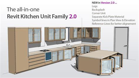 Revit Kitchen Cabinet Family Revit Content All In One Kitchen Unit 2 0