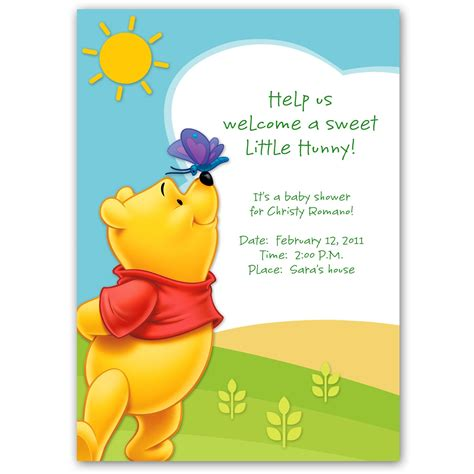 Free Printable Winnie The Pooh Baby Shower Invitations by Winnie The Pooh Baby Shower Invitation Template