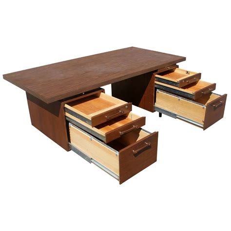 1 70 quot vintage industrial office supply walnut desk ebay