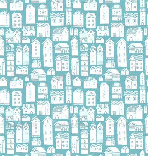 house pattern houses pattern by stolenpencil graphicriver