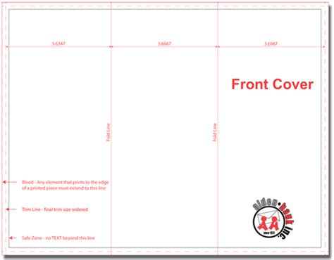 8 5 X 11 Card Template For Tri Fold Card by Brochures