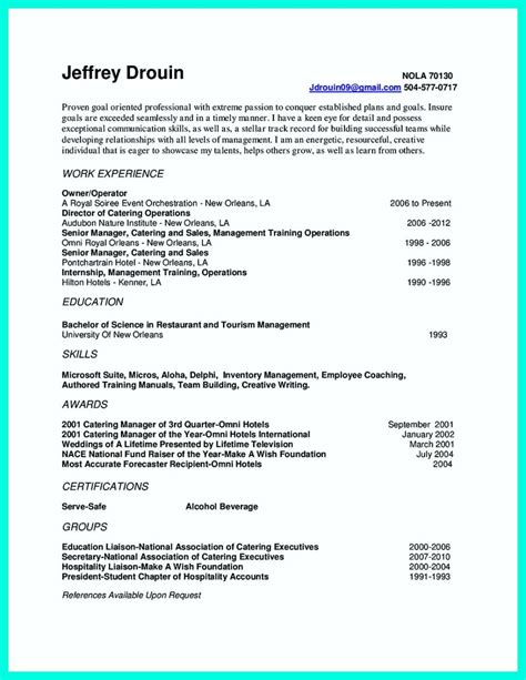 sales and catering manager resume free professional