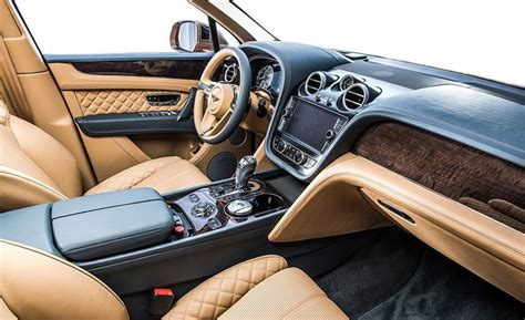 bentley 2017 interior 2017 bentley bentayga dissected feature car and driver