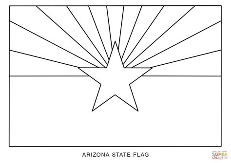 Arizona Flag Coloring Page flag of arizona coloring page free printable coloring pages