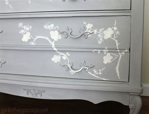 Bedroom Dresser Handles chalk paint and cherry blossoms a dresser makeover