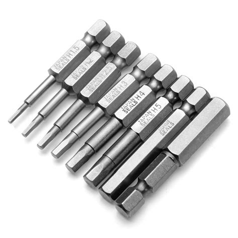 bits to hex 8pcs 50mm 1 4 inch hex shank magnetic hex screwdriver
