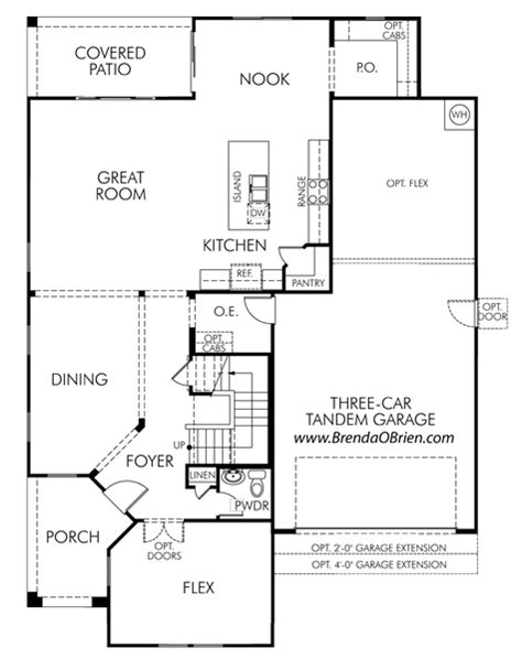 meritage home floor plans meratige rancho vistoso floor plan gallatin model