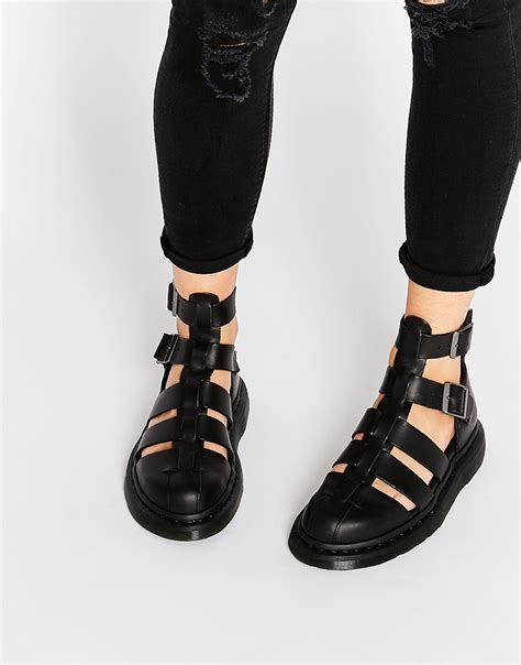 ankle gladiator sandals dr martens shore reinvented gladiator geraldo ankle