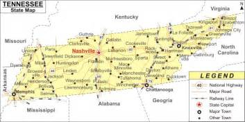 map of tennessee and carolina with cities tennessee map with major cities california map