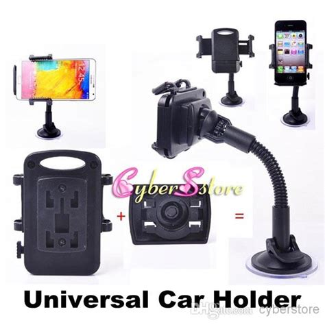 Dijamin Car Holder Universa universal windscreen car mount holder adjustable width windshield cradle for samsung galaxy s7