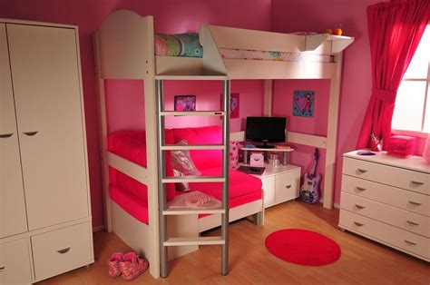 girls loft bed with desk pink loft beds with desk for girls special loft beds