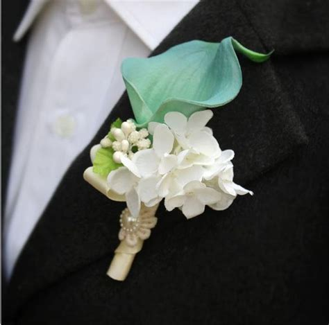 Handmade Corsage And Boutonniere - aliexpress buy diy calla corsage flowers groom