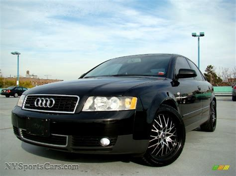 Audi A4 1 8t Black 2004 audi a4 1 8t quattro sedan in brilliant black