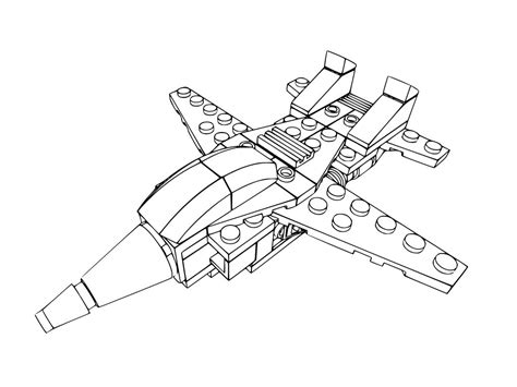 Lego Jet Coloring Pages | free coloring pages of lego friends mini figure