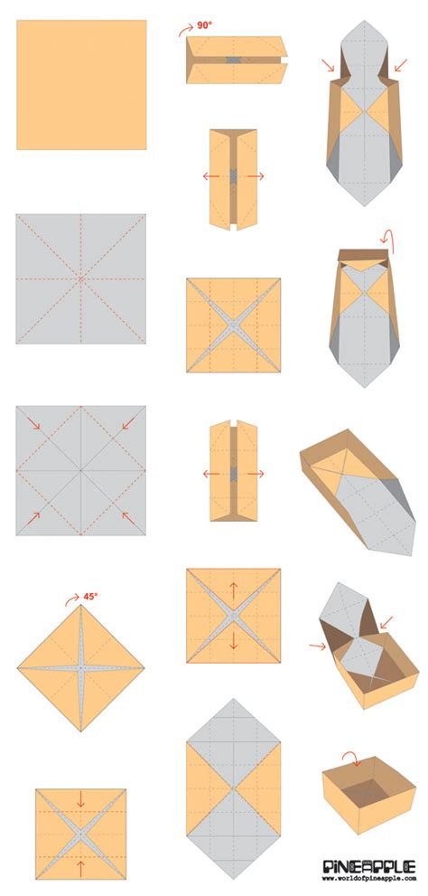 Origami Gift Box Template - how to make paper gift boxes origami paper