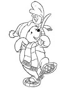 disneys pooh bear piglet winter coloring amp coloring pages