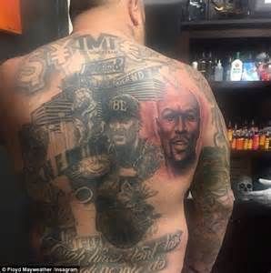 floyd mayweather takes to social media to thank tattooed