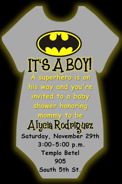 Batman Baby Shower Invitations by 1000 Ideas About Batman Baby Showers On
