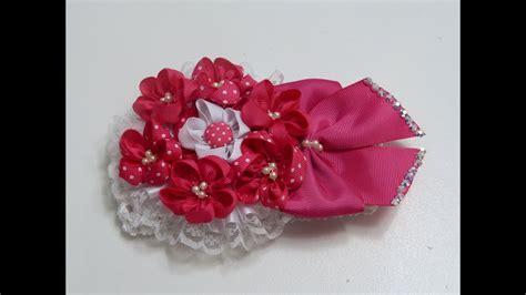 como hacer una flor doble vista con liston como hacer flores con liston como hacer flor peque 241 as