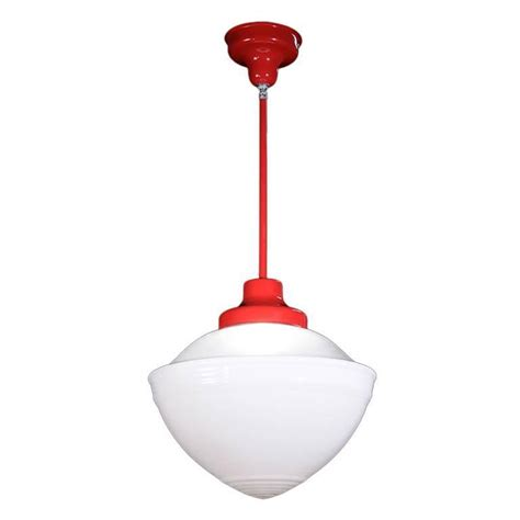 Large Schoolhouse Pendant Light Large 16 Quot Diameter White Glass Schoolhouse Pendant Lights For Sale At 1stdibs