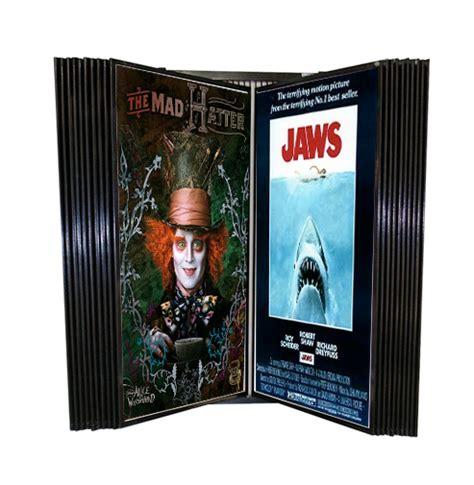 Top Shelf Light Wall Poster Display Wall Mount Movie Poster Rack Flip