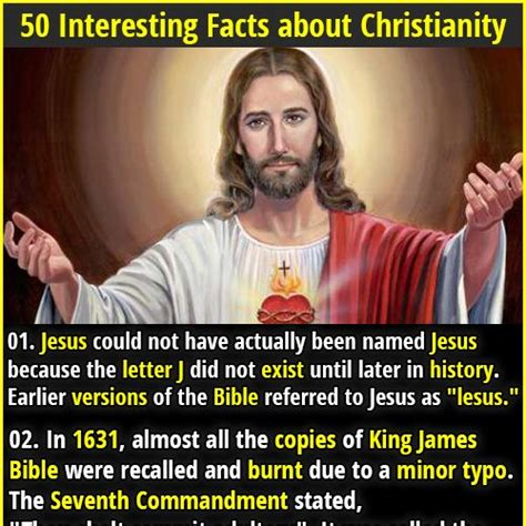 jesus did not exist 50 interesting facts about christianity varios