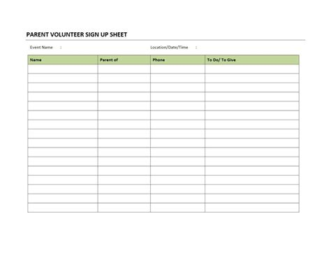 21 sign up sheet templates free word excel pdf