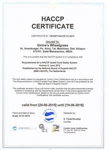 Haccp Certification Letter haccp letter compliance certificate related haccp certificate gmp npop