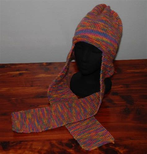 knitting pattern hat with scarf attached scarf hat pattern and instructions