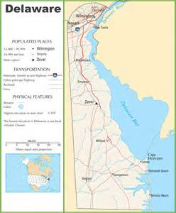 delaware highway map
