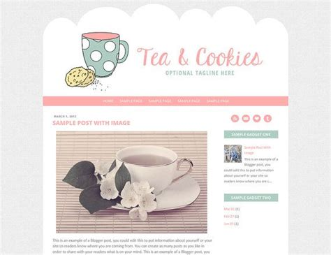 37 Best Blog Template Ideas Images On Pinterest Blogger Templates Blogging And Mobile Responsive Cookie Website Template