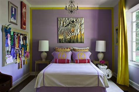 yellow and purple bedroom yellow curtains contemporary s room driscoll design