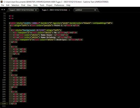 membuat website sederhana dengan sublime text cara membuat web dengan sublime text cara membuat table
