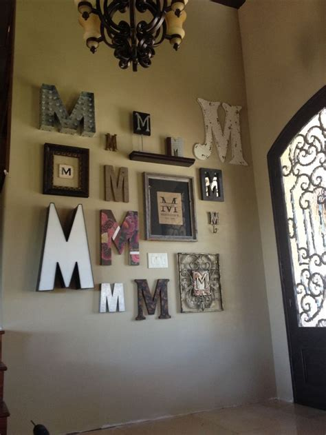 monogram wall   home home decor letter wall