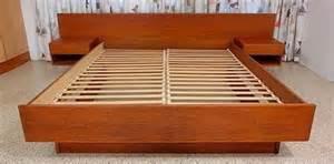 King Size Platform Bed Sets - mid century modern teak platform bed wasted on the old jen selk